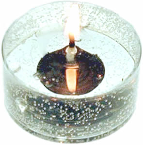 16 Unscented Gel Candle Tea Lights (up to 8 hrs each)