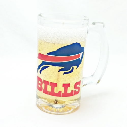 Buffalo Bills Beer Gel Candle - Click Image to Close