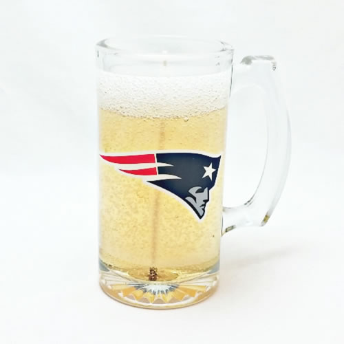 New England Patriots Beer Gel Candle