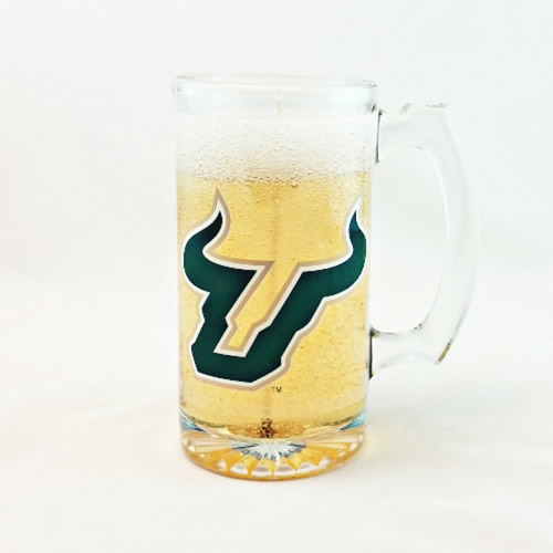 University South Florida Bulls Beer Gel Candle