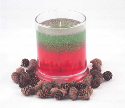 Christmas Tree/Peppermint Scented Gel Candle Candle - Deco Jar
