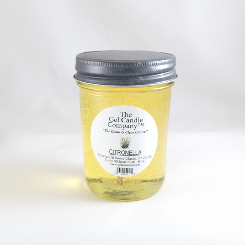 Citronella 90 Hour Gel Candle Classic Jar Mosquito Prevention