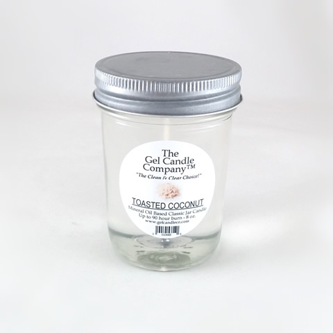 Toasted Coconut 90 Hour Gel Candle Classic Jar