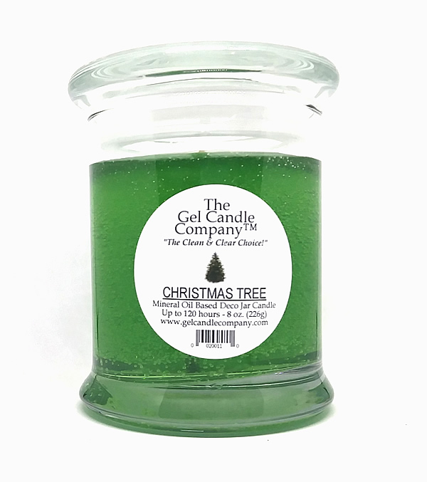 Christmas Tree Scented Gel Candle - 120 Hour Deco Jar