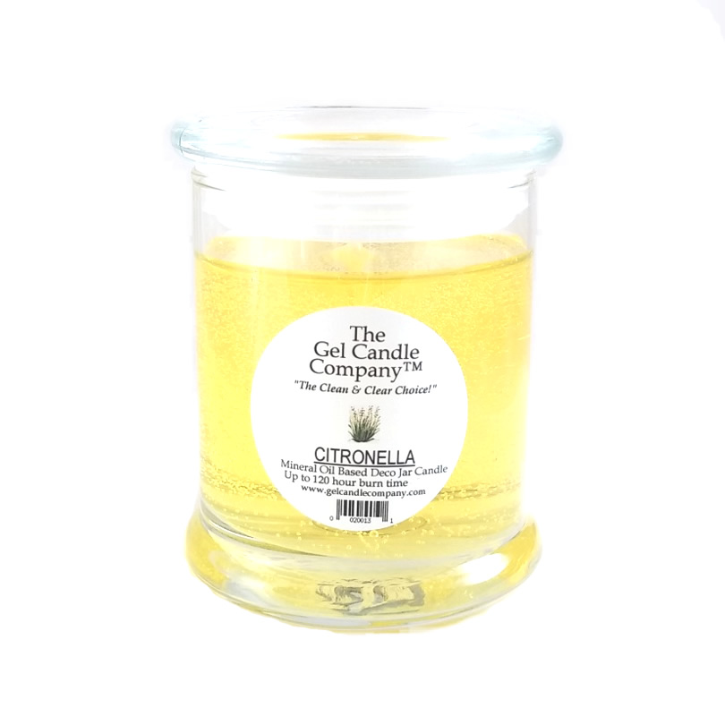 Citronella Scented Gel Candle - 120 Hour Deco Jar