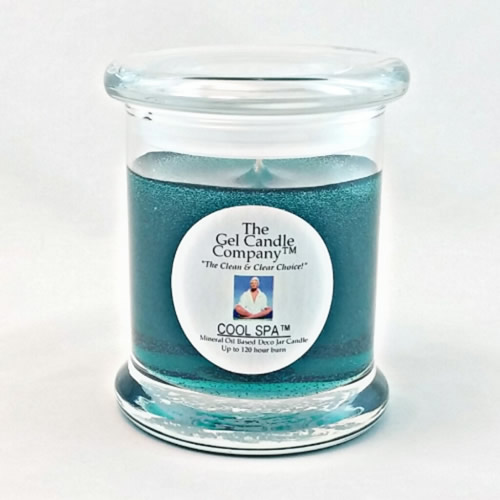 Cool Spa™ Scented Gel Candle - 120 Hour Deco Jar
