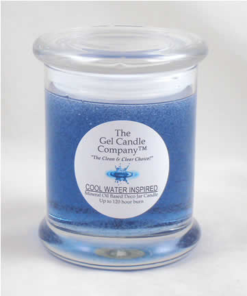 Cool Water Inspired Scented Gel Candle - 120 Hour Deco Jar