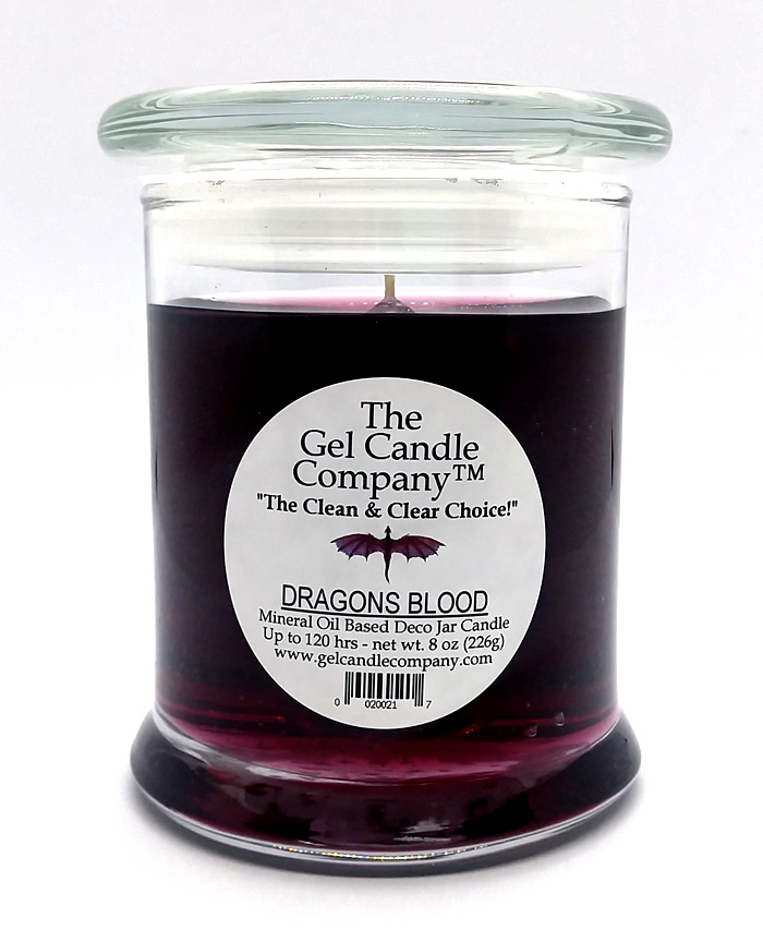 Dragons Blood Scented Gel Candle - 120 Hour Deco Jar