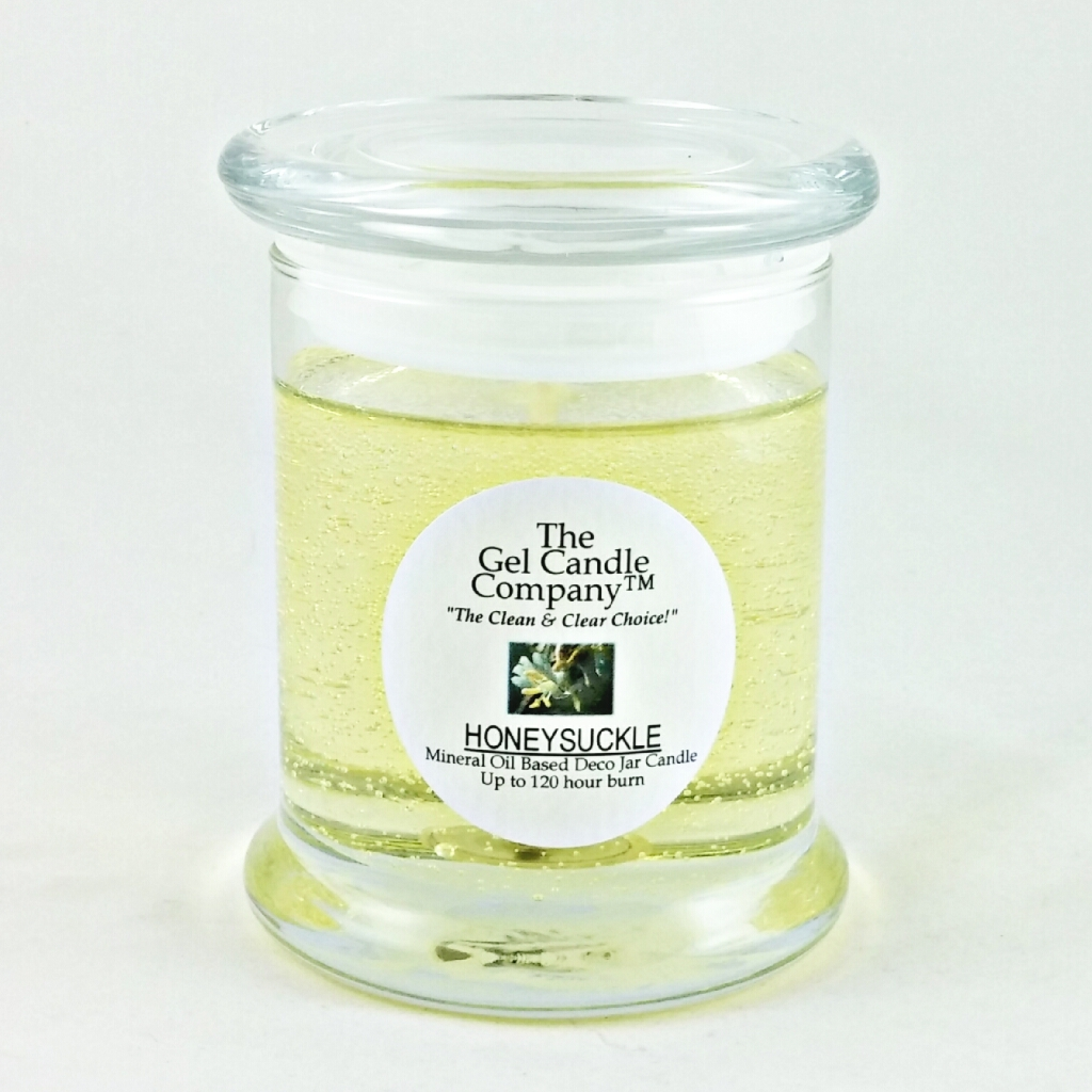 Honeysuckle Scented Gel Candle - 120 Hour Deco Jar