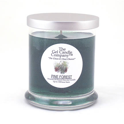 Pine Forest Scented Gel Candle - 120 Hour Deco Jar