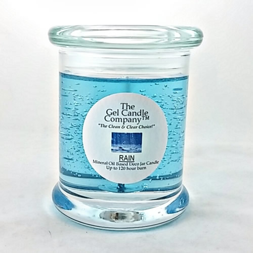 Rain Scented Gel Candle - 120 Hour Deco Jar