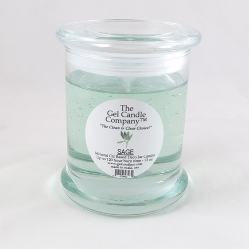 Sage Scented Gel Candle - 120 Hour Deco Jar