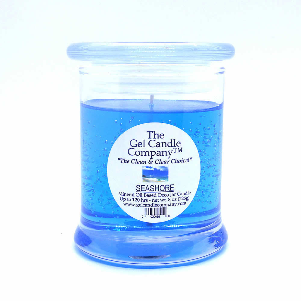Seashore Scented Gel Candle - 120 Hour Deco Jar