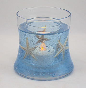 Starfishes Hourglass Refillable Forever Candle Design