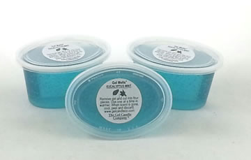 Eucalyptus Mint scented Gel Melts™ for warmers - 3 pack
