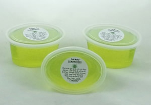 Lemongrass scented Gel Melts™ Gel Wax for warmers - 3 pack