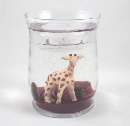 Giraffe Gel Candle Refillable Forever Candle Designs by Deb