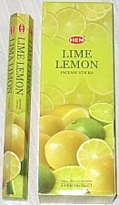 Lime Lemon Incense - 20 sticks