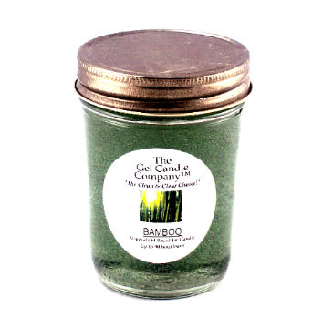 Bamboo Scented Gel Candle 90 Hour Classic Jar