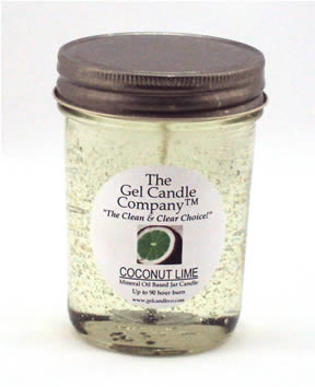 Coconut Lime 90 Hour Gel Candle Classic Jar