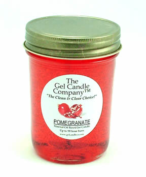 Pomegranate 90 Hour Gel Candle Classic Jar