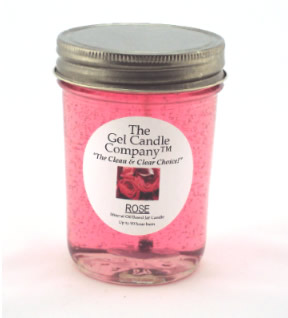 Rose 90 Hour Gel Candle Classic Jar