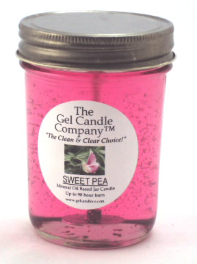 Sweet Pea 90 Hour Gel Candle Classic Jar