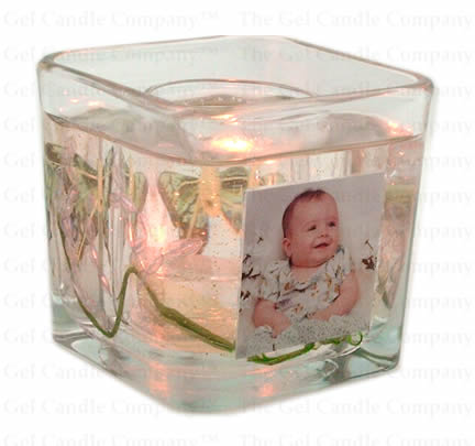 Your Photo Gel Candle w/butterfly