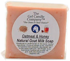 Oatmeal and Honey Natural Goat's Milk Soap For Sensitive Skin