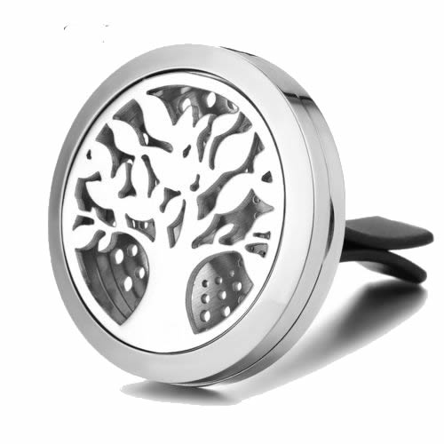 Tree Of Life Stainless Steel Aroma Vent Diffuser 30mm With Pads