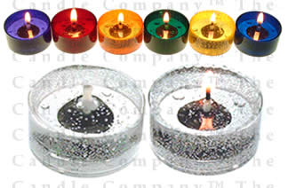 126 Unscented Gel Candle Tea Lights (up to 8 hrs each)