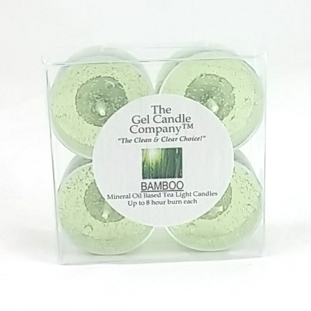 Bamboo Scented Gel Candle Tea Lights - 4 pk.