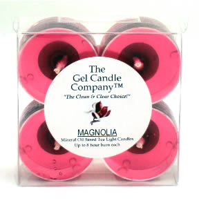 Magnolia Scented Gel Candle Tea Lights - 4 pk.