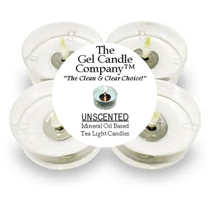 4 Unscented Gel Candle Tea Lights (up to 8 hrs each)