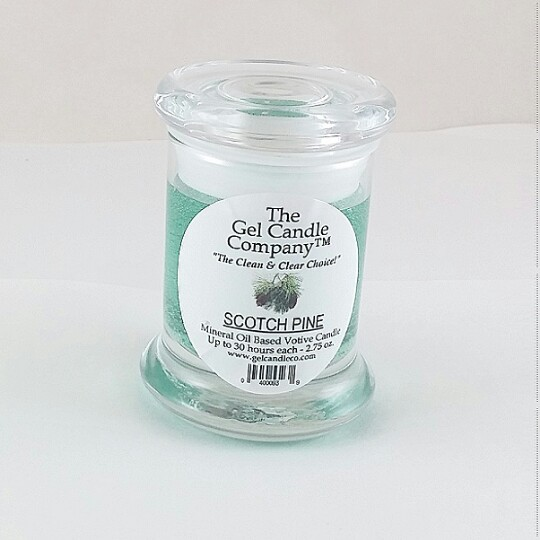 Scotch Pine Scented Gel Candle Votive
