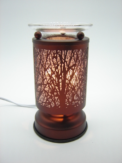forest trees scene electric touch activation oil warmer