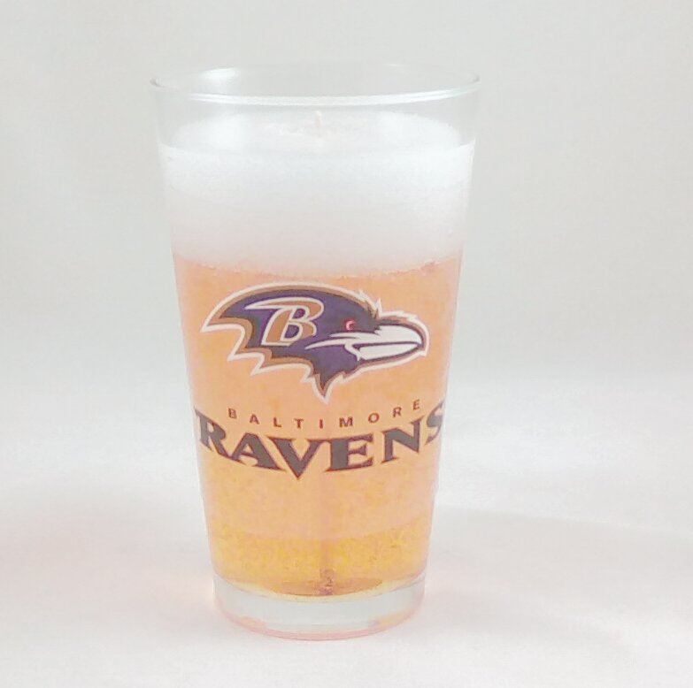 Baltimore Ravens Beer Gel Candle