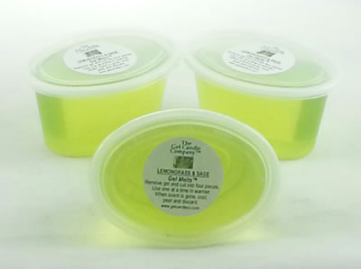 Lemongrass & Sage scented Gel Melts™ for warmers - 3 pack