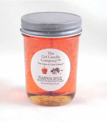 Pumpkin Spice 90 Hour Gel Candle Classic Jar
